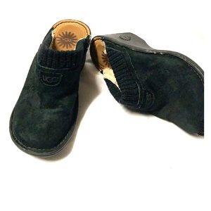 🔥Suede black UGG clogs ❤️